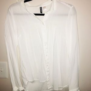 Tops - White button up blouse